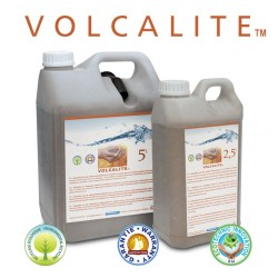 Volcalite volcanic rock in hermetic container 2.5L and hermetic jerrycan 5L with tamperproof cap