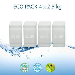 Blocs de sel ECO 2,3 kg conditionnés en paquet de 4 unités