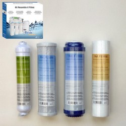 Maintenance kit 4 cartridges for Reverse Osmosis Basic 5s and 5p Basic with and without pump
