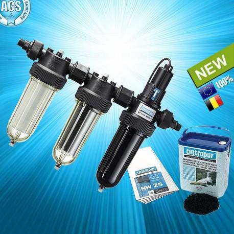 Cintropur trio-uv purificateur-eau avec charbon actif et manchettes filtrantes nw25