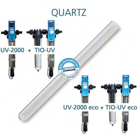 Cintropur quartz tube for Cintropur UV 2000, Cintropur UV 2000 eco, Cintropur TIO-UV, Cintropur TIO-UV eco, water purifiers