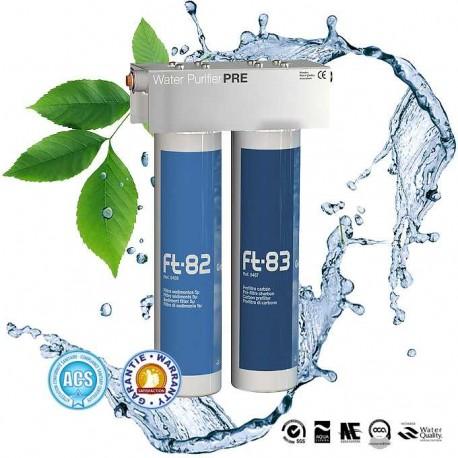 Ft Line PRE filtre 5 microns et filtre au charbon actif