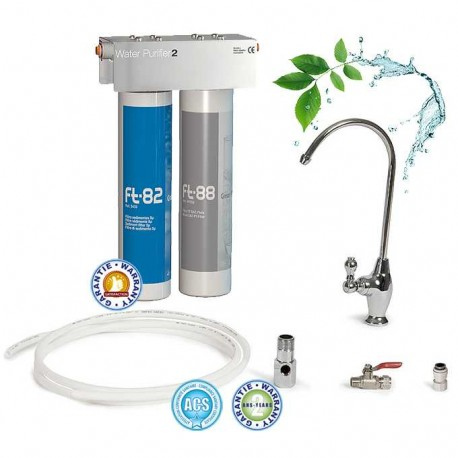 Ft Line 2, full duo water filter with installation accessories