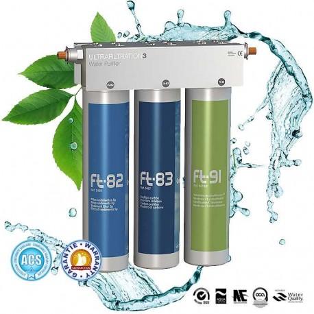 Ft Line 3 purificateur eau avec filtre 5 µm, cartouche charbon actif et membrane ultrafiltration