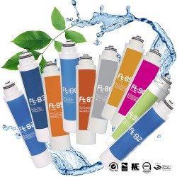 Cartridges for water filters and water purifiers of the Ft Line range