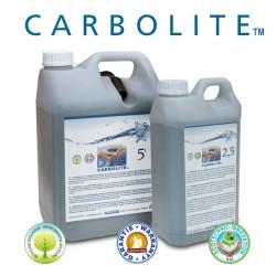 Le charbon actif Carbolite est disponible en bidon de 2,5L et 5L
