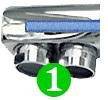 Le robinet mitigeur 3 voies FORUM est équipé d'un aérateur