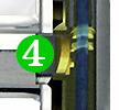 Le robinet mitigeur 3 voies FORUM est équipé d'un cylindre céramique Noryl