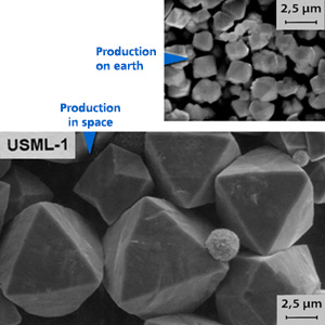 NASA Study on the comparison of zeolites produced on earth and in space