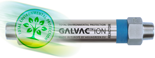 Total protection of the environment in the treatment anti corrosion descaling of hard water by the Galvac ion 20 reactor