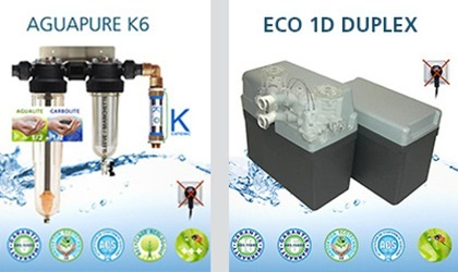 Differences between a water refiner Aguapure and a water softener Delta Simplex Duplex ECO